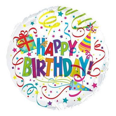 Happy Birthday Streamer balloon