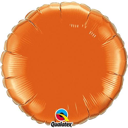 Orange 18 inch Circle Foil Balloon