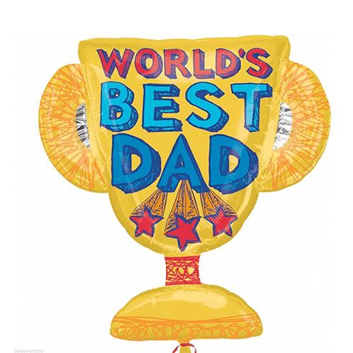 Word's Best Dad Trophy Balloon