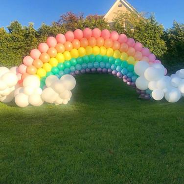 Rainbow Balloon Display