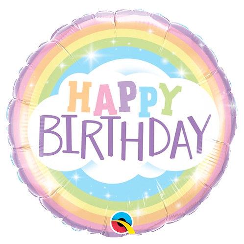 Happy Birthday Pastel Rainbow
