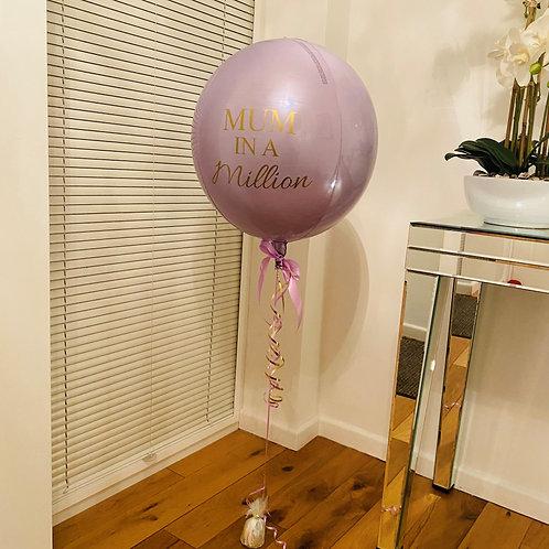 Mum In A Million Orbz Balloon Helium Filled