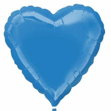Periwinkle 18 inch Heart Foil Balloon
