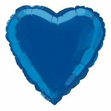 Dark Blue 18 inch Heart Foil Balloon