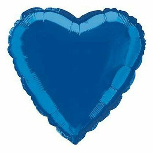 Dark Blue 18 inch Heart Foil Balloon