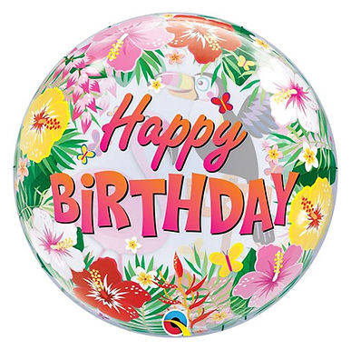 Tropical Birthday Party Bubble Balloon