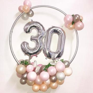 30th Birthday Balloon Hoop