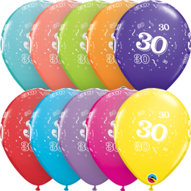 """30-A-Round 11"""" Latex Retail Pack"""