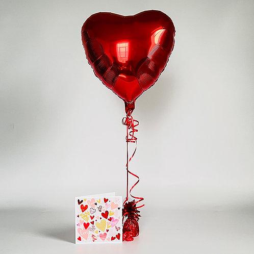 """""""Love Love Love"""" Card & Balloon Combo"""