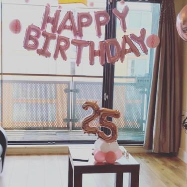Happy Birthday Balloon Room Decoration