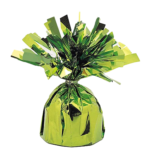 Lime Green Tinsel Bomb Balloon Weight