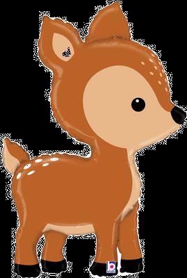 """Woodland Deer 39"""" Foil Balloon"""
