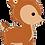 "Thumbnail: Woodland Deer 39"" Foil Balloon"