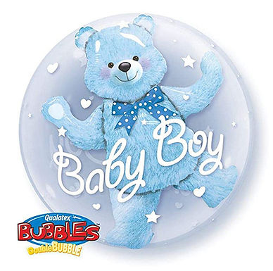 Baby Boy Double Bubble Balloon