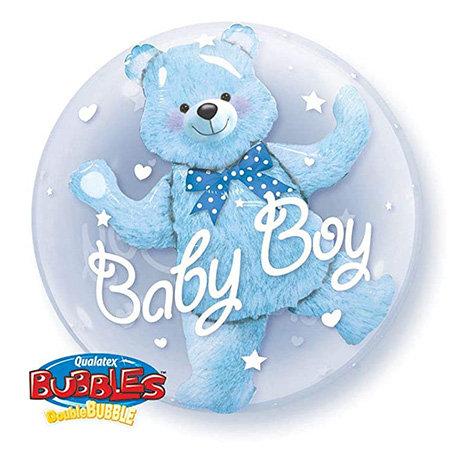 Baby Boy Double Bubble Balloon