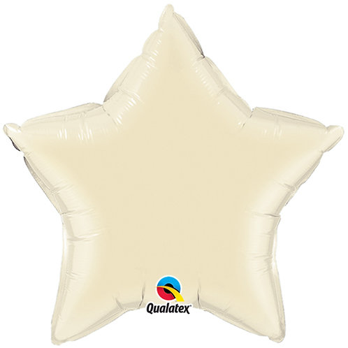 Ivory 18 inch Star Foil Balloon