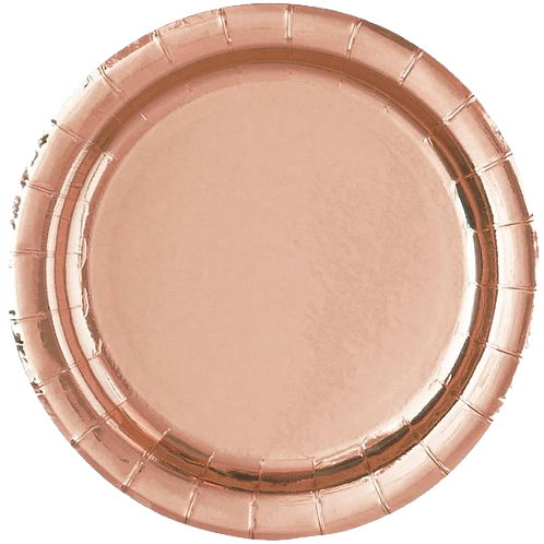 """Rose Gold 7"""" Paper Plates"""