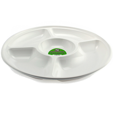 34cm White Snack Tray