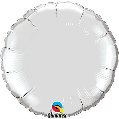 Silver 18 inch Circle Foil Balloon
