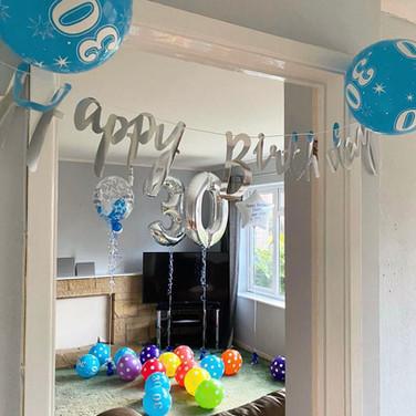 30th Birthday Balloon Decorations