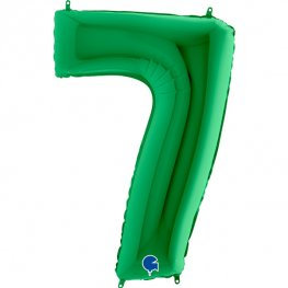 """Green 40"""" Foil Number 7 Balloon Helium Filled"""