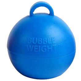 Blue Bubble Balloon Weight