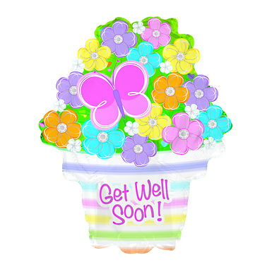 Get Well Soon Supershape Foil Balloon