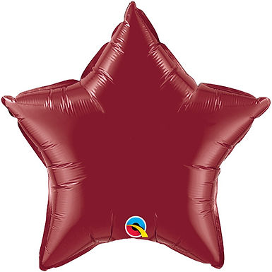 Burgundy 18 inch Star Foil Balloon