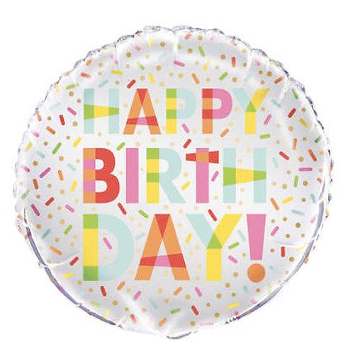 Happy Birthday Colourful Sprinkles