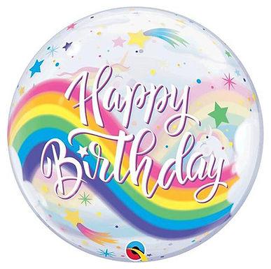 Happy Birthday Magical Unicorn Bubble Balloon