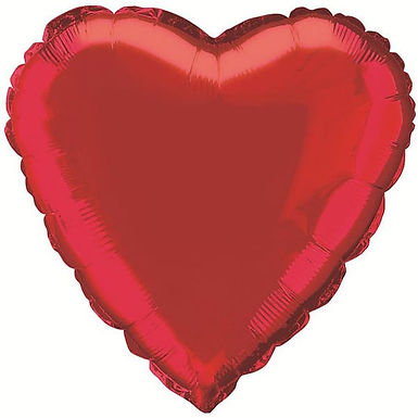 Red 18 inch Heart Foil Balloon