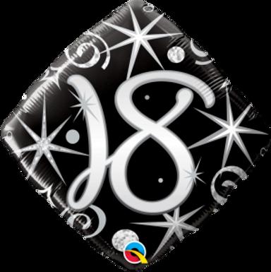 "18 Elegant Sparkles & Swirls 18"" Foil Balloon"