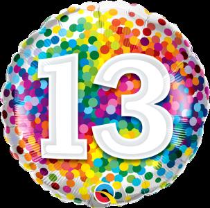 Colourful Milestone Birthday Balloons