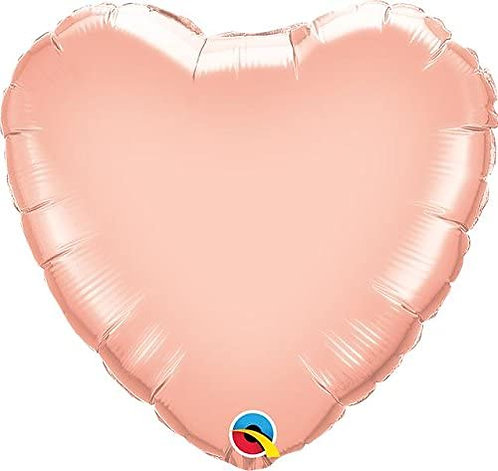 Rose Gold 18 inch Heart Foil Balloon