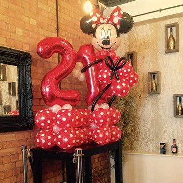 Minnie Mouse 21st Birthday Balloon Display
