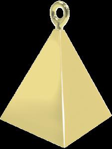 Gold Pyramid Balloon Weight