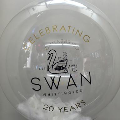 Custom Bubble Balloon for the Swan at Whittington
