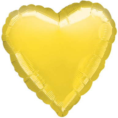 Yellow 18 inch Heart Foil Balloon