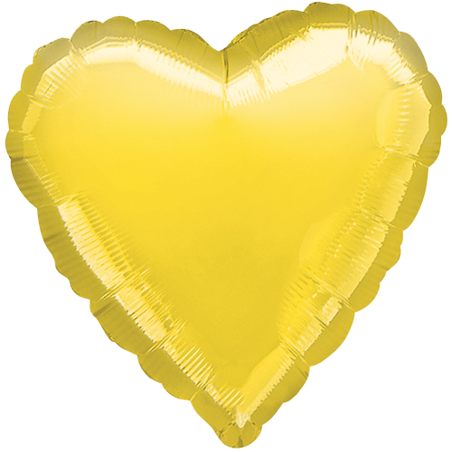 Yellow 18 inch Heart Foil Balloon