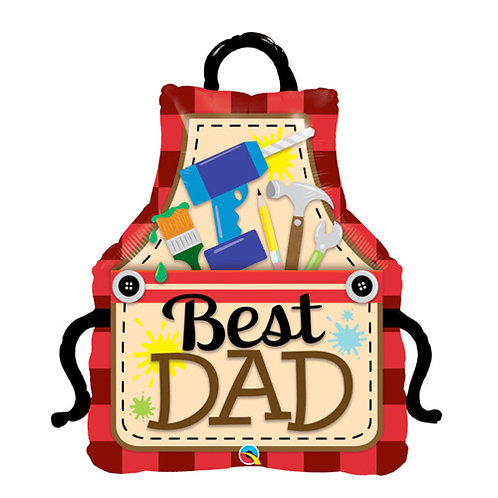 Best Dad Ever Apron Balloon