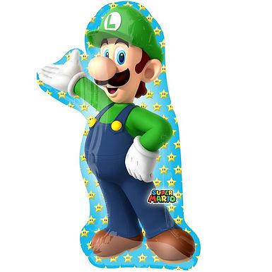 Super Mario Luigi Shape Foil Balloon