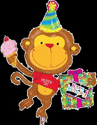 "Birthday Monkey 49"" Foil Balloon"