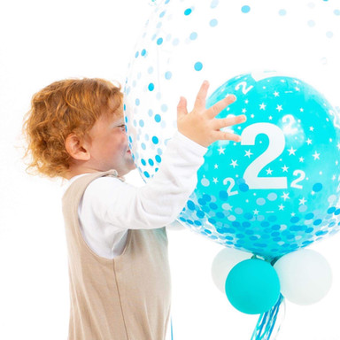 Bubble Balloon for a 2nd Birthday