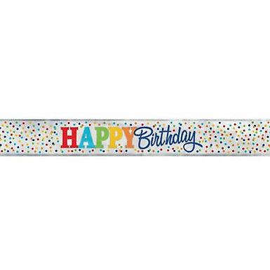 Rainbow Birthday Polka Dots Banner