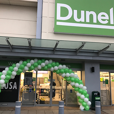 Sprial arch for Dunelm