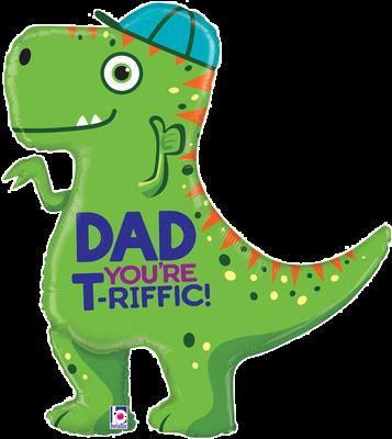 "T-Rex Dad 35"" Foil Balloon"