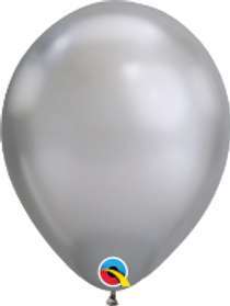 """Chrome Silver 11"""" Latex Balloon"""