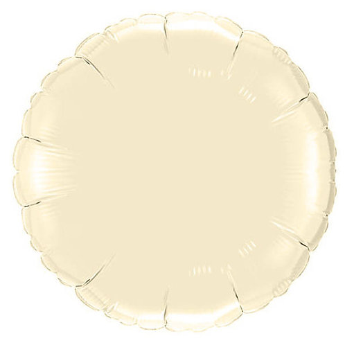 Ivory 18 inch Circle Foil Balloon