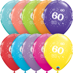 """60-A-Round 11"""" Latex Retail Pack"""