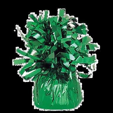 Dark Green Tinsel Bomb Balloon Weight